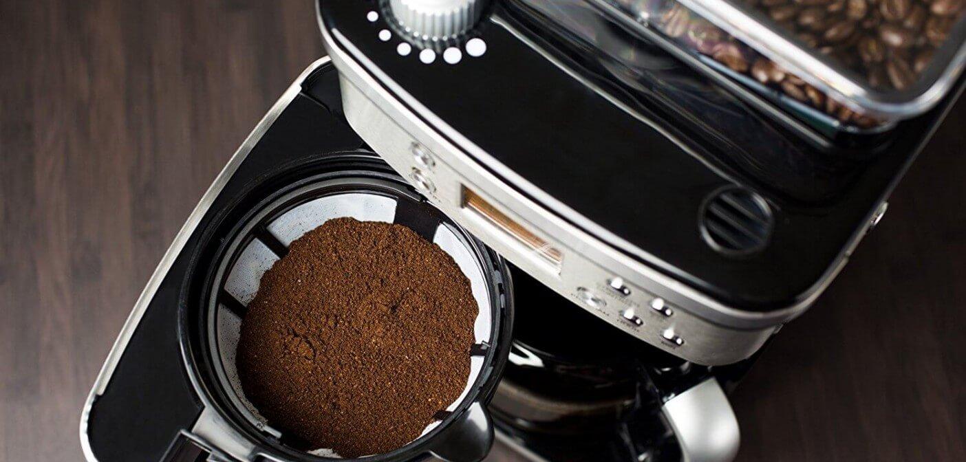 kaffekokare med kvarn